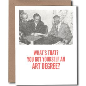 Art Degree Graduation Card
