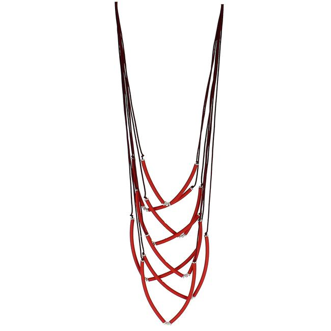 Strand Necklace - Red
