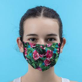 Double Layer Roses Face Mask - Small/Medium