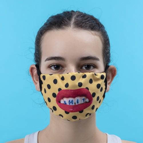 Double Layer Sh * T Pois Face Mask- Small/Medium