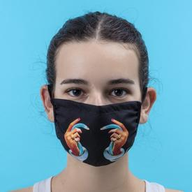 Double Layer Hands and Snakes Face Mask- Small/Medium