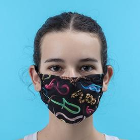 Double Layer Snakes Face Mask - Small/Medium