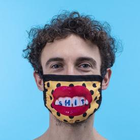 Double Layer Sh*t Pois Face Mask- Medium/Large