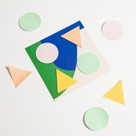 Geometric Sticky Notes in Cool Colors COOL