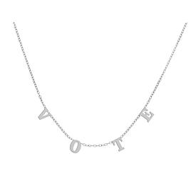 Vote Necklace - White Gold
