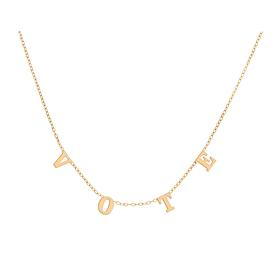Vote Necklace - Gold