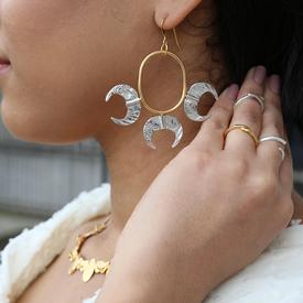 Gold Claw Stack Earrings