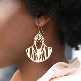 Ultrasonic Flight Etched Cutout Earrings