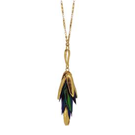 Beetle Wing Necklace GOLD_GREEN