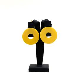 Moon Clip Earrings - Yellow