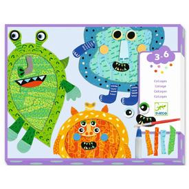 Happy Monsters Tear and Stick Collage Set