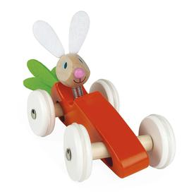 Bunny Rabbit Wood Carrot Car