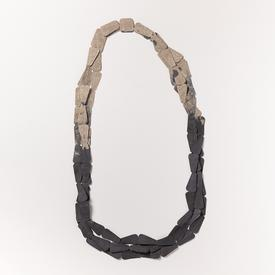 Trapeze Necklace - Grey and Black