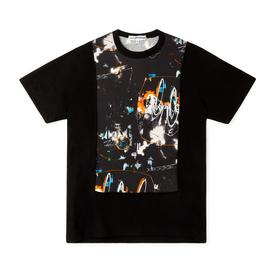 Comme des Garcons SHIRT x Futura Knitted T-Shirt - Front and Back Print BLACK