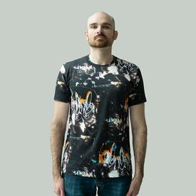 Comme des Garcons SHIRT x Futura Short Sleeve All Over Print - Black