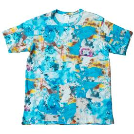 Comme Des Garcons SHIRT x Futura Short Sleeve All Over Print - Blue BLUE