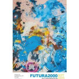 Futura 2000 Sports in Space with Air Force Blue Poster