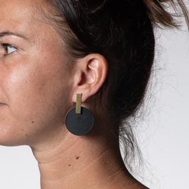 Monocycle Earrings - Noir