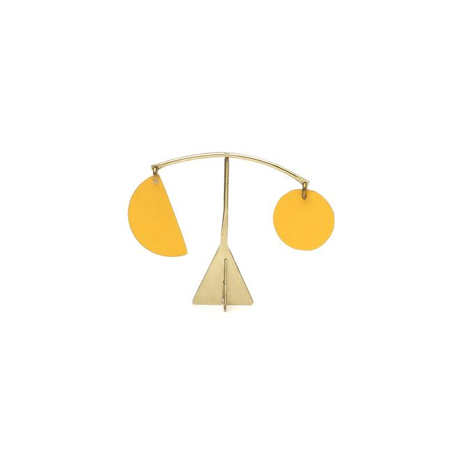 Pendulum Mini Desk Stabile - Yolk Yellow
