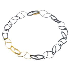 Tulip Link Two-Tone Necklace - Short GOLDPLATE_SSOXI