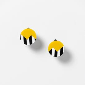 Thunder Clip Earrings - Yellow