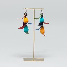 Feather Earrings - Rainbow