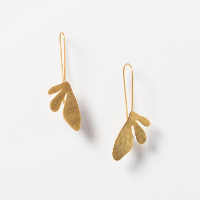Tri Leaf Earrings
