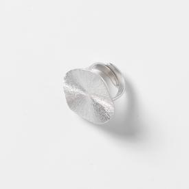 Adjustable Circle Ring - Silver Tone