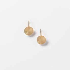 Circle Drop Earrings - Gold Tone