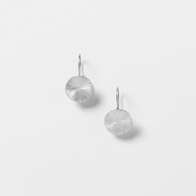 Circle Drop Earrings - Silver Tone