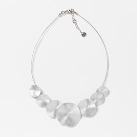 Multi-Circle Necklace - Silver Tone