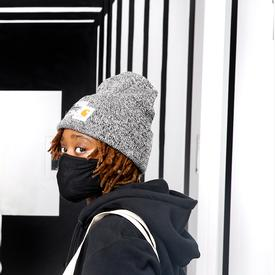 Joshua Vides x MCA Rialto Beanie - Black and White