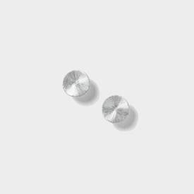 Circle Post Earrings - Silver Tone