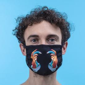 Double Layer Hands and Snakes Face Mask- Medium/Large