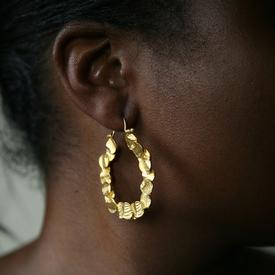 100 Circles Gold Hoop Earrings
