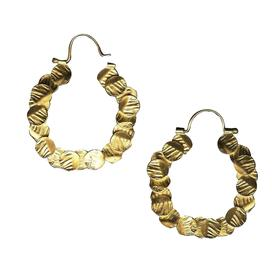 100 Circles Gold Hoop Earrings GOLD_PLATE