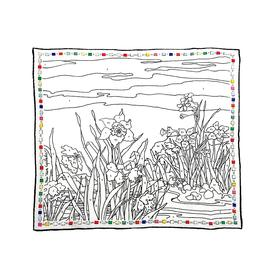 Paint by Numbers Scarf - White