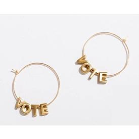 Vote Earrings - Gold GOLD