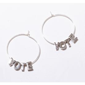 Vote Earrings - Silver