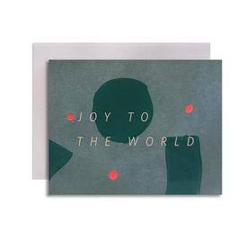 Joy to the World Greeting Cards GREEN