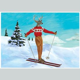 Deer Skier Holiday Cards