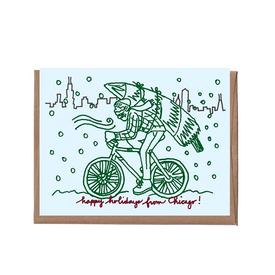 Winter in Chicago Greeting Cards