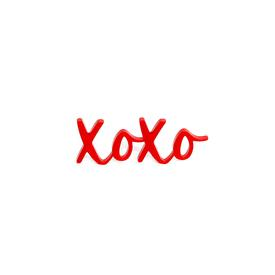 XOXO Pin - Red