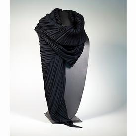 Handmade Pleated Scarf - Black