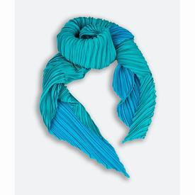Handmade Pleated Scarf - Blue BLUE