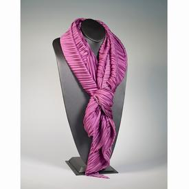 Handmade Pleated Scarf - Rose