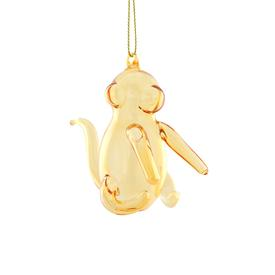 Balloon Monkey Glass Ornament