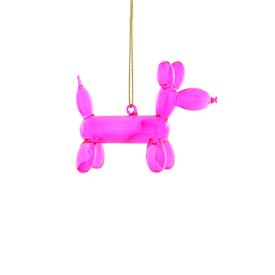 Balloon Dachshund Glass Ornament