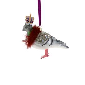 Regal Pigeon with Crown Ornament