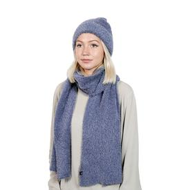 Brushed Furry Scarf - Navy